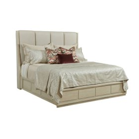 Siena Cal King Upholstered Bed - Complete