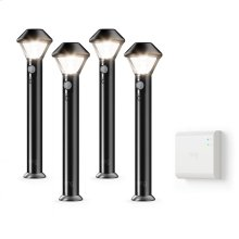 Smart Lighting Pathlight 4-Pack + Bridge - Black