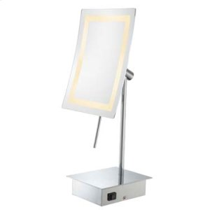 72343 Single-Sided LED Rectangular Minimalist Free Standing Mirror Product Image