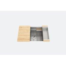 "SmartStation® 005402 - undermount stainless steel Kitchen sink , 30"" × 18 1/8"" × 10"" (Maple)"