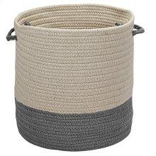 "Sunbrella Coastal Basket AS49 Granite 11"" X 7"""