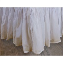 """Queen 18"""" Teastain Organdy Bedskirt 100% Cotton"""