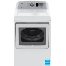 Top Load Matching Dryer - GE 7.4 cu ft.capacity DuraDrum2 gas dryer with Sensor Dry