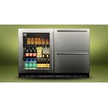 "Kalamazoo 48"" Outdoor Refrigerator (1 Glass Door + 2 Drawers)"