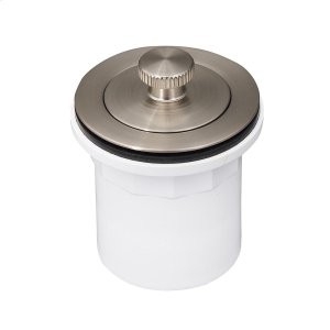 Lift u0026 Turn Tub Drain with PVC Adapter - Brushed Nickel Product Image