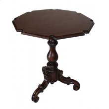 Brown Carved End Table