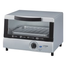 Electric Skillet / Toaster Oven in Sliver - 4-Slice Toaster Oven