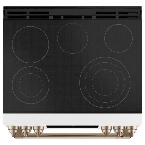 "Café 30"" Smart Slide-In, Front-Control, Radiant and Convection Range"