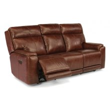 Sienna Leather Power Reclining Sofa with Power Headrests