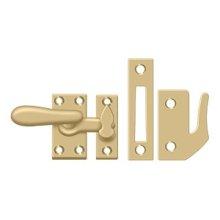 Window Lock, Casement Fastener, Medium - Brushed Brass