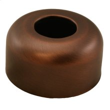 "Old World Bronze Escutcheon 1-1/4"" Tubular Box Pattern 3"" OD"