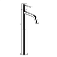 """High version basin mixer with 1 1/4"""" pop-up waste and flexible hoses with 3/8"""" connections"""