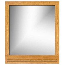 Framed mirror with shelf