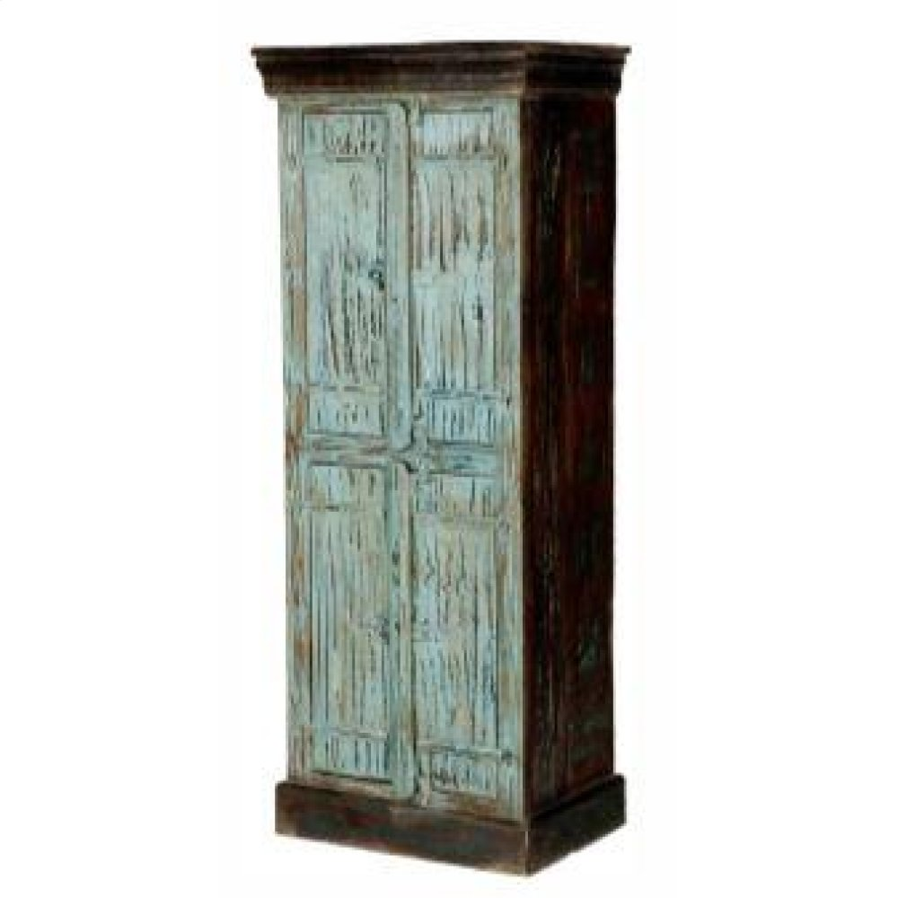 Turquoise Painted Bathroom Cabinet