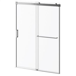 """60"""" X 36"""" X 77"""" Sliding Shower Door With Clear Glass and Towel Bar - Chrome Product Image"""