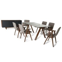 Modrest Maddox & Weylyn Modern Walnut Dining Set