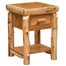 One Drawer End Table with Shelf - Natural Cedar Product Image