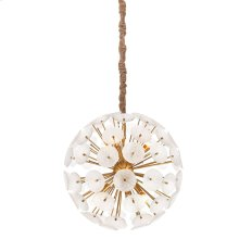 AMELIA CHANDELIER  Metallic Glass Disks with Gold Finished Metal