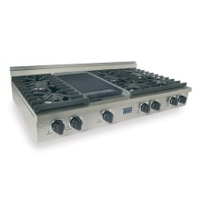 """48"""" Gas Cooktop, Sealed Burners, Stainless Steel"""