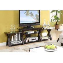 TV Stand W. Side Shelf