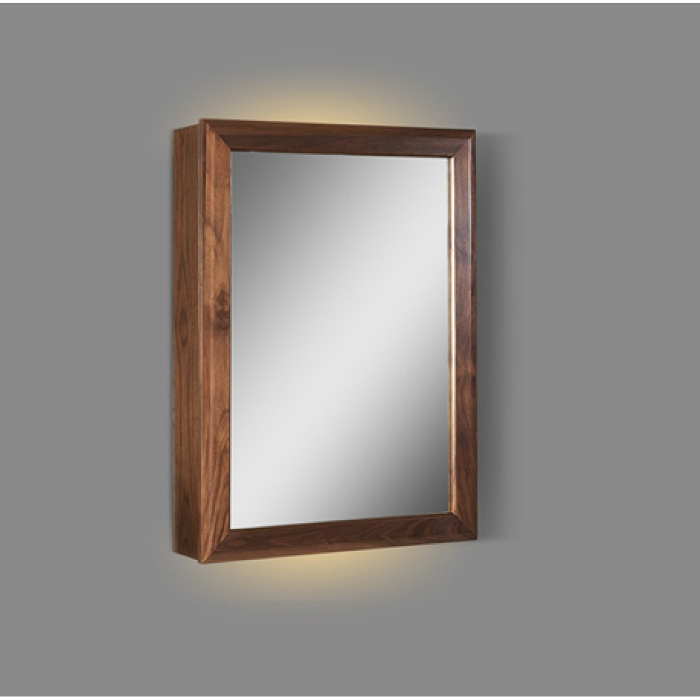 "M4 20"" LED Medicine Cabinet - right - Natural Walnut"
