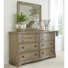 Corinne - Six Drawer Dresser - Sun-drenched Acacia Finish