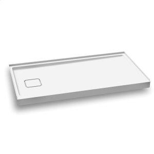 """Rectangular acrylic shower base 60"""" x 32"""" - Left drain Product Image"""