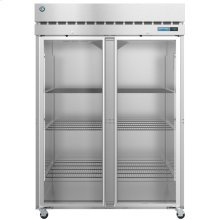 R2A-FG, Refrigerator, Two Section Upright, Full Glass Doors with Lock