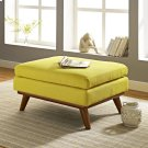 Engage Upholstered Fabric Ottoman in Sunny Product Image