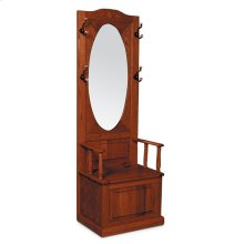 Hall Seat with Oval Beveled Mirror