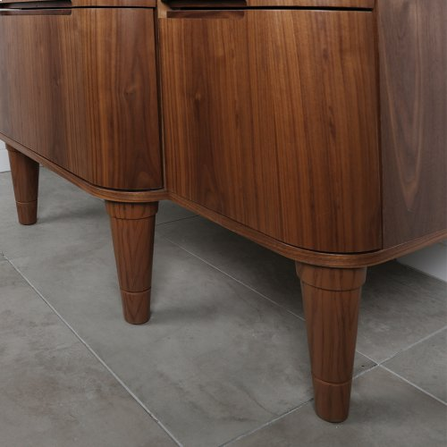 "One piece turned wood leg for Eleganza vanities, 3 1/4""DIAM x 10""H"