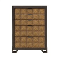Hudson 5 Drawer Chest in Gold and Black Product Image