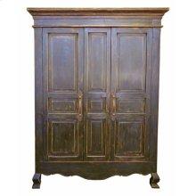2 Door Stone Brown Armoire