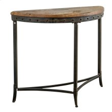Trenton Half-Moon Console Table in Distressed Pine