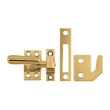 Window Lock, Casement Fastener, Small - PVD Polished Brass