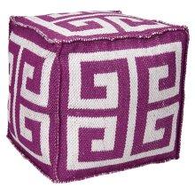 "Outdoor Pillow As555 Lilac 16"" X 16"" X 16"" Pouf"