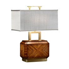 Tea Caddy Zebrano Table Lamp