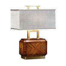 Tea Caddy Zebrano Table Lamp