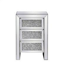 17.5 inch Crystal Bedside Table Silver Royal Cut Crystal