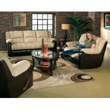 "MOTION SOFA/DARK BROWN 88""X40-1/2""X40""H"