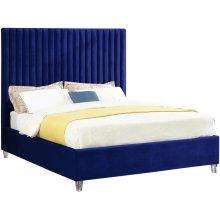 "Candace Velvet Bed - 59"" W x 81"" D x 65"" H"