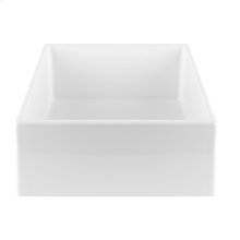Countertop washbasin sink in European White Ceramic, without overflow waste