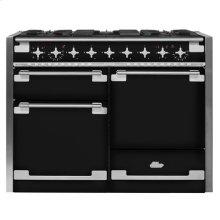 AGA Elise 48 Dual Fuel Gloss Black with Chrome trim
