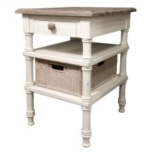 Island Side Table - Wht/rw