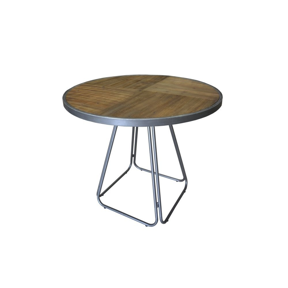 Emerald Home D102-16 Laurell Hill Round Gathering Height Dining Table, Patina Gray