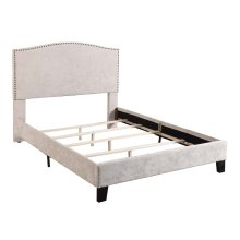 Upholstered 6/6 King Headboard-footboard & Rails-cream#xh081-02