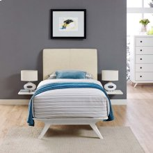 Tracy 3 Piece Twin Bedroom Set in White Beige