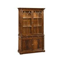 George III Gothic Mahogany Glazed Cabinet