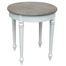Provence Round Lamp Table - Wht/rw