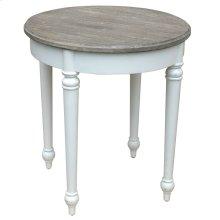 Provence Round Lamp Table - Wht/rw